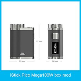 Wholesale Pico Battery - 2016 Eleaf iStick Pico Mega 100w TC Box Mod Powered by Replaceable 26650 18650 Battery Firmware Upgradeable 100% Original