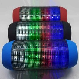 Wholesale Dhl Free Shipping Bluetooth Speaker - Top quality Wireless Bluetooth Speakers PULSE Y35 Portable Mini Speaker Streaming Colorful 360 LED Lights Hifi TF Card DHL free shipping