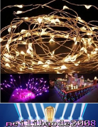 Wholesale Mini White Christmas Lights Wholesale - NEW 4M LED Battery Strings 5M 10M Mini LED Copper Wire String Light AA Battery Operated Fairy Party Wedding Flashing LED Christmas MYY18
