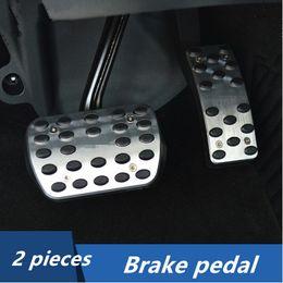 Wholesale Throttle Pedals - 2pcs Stainless steel Car Interior Throttle Brake Pedal Decorative Trim For Mercedes Benz ML GL 320 350 400 500