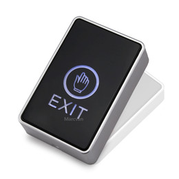 led door button prices - Wholesale hand punch exit switch and button touch switch finger Release Door Touch Exit Button with LED Backlight for Entry Access Control