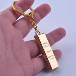 2019 mejores barras de oro Imitación Barra de oro Llavero Llavero Modelo - Metal Lingote de oro Lingote Llaveros El mejor regalo para los hombres para hombre, favores de la boda mejores barras de oro baratos