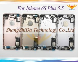 Wholesale Iphone Oem Assembly - High Quality For iphone 6S 4.7 '' 6S Plus 5.5 '' inch OEM Battery Back Door Cover Case Full Housing Assembly Replacement Parts