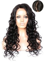Wholesale New Look Hair - 2016 New Arrival Virgin Brazilian Glueless 150 Density Human Hair Full Lace Wigs with Natural Looking Loose Wave Lace Front Wig