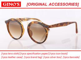 Wholesale Vintage Round Sunglasses Gold - 2017 new Great Quality glass lens Sunglasses Round Vintage Steampunk Glasses Men Women Gold Double Bridge lentes de sol hombre mirror gafa