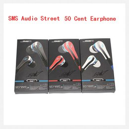Wholesale Earbuds Mini Sms - SMS Audio Street mini 50 Cent Earphones Earbuds In-Ear Headphone Headset with mic and mute button earphone 3 color