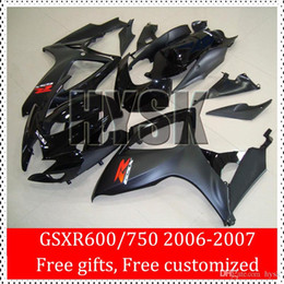 Wholesale Gsxr Aftermarket Body Kits - Blue White Fairing Kits For Suzuki Aftermarket Body Cover 2006 2007 GSXR 600 GSXR 750 K6 GSXR600 GSXR750 06 07 Racing Race Bike Fairings