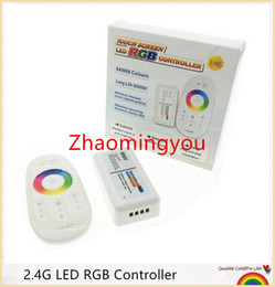 Wholesale Controllers For Led Screens - 1PCS RGB led controller DC12-24V 18A RGB led controller 2.4G touch screen RF remote control for led strip bulb downlight