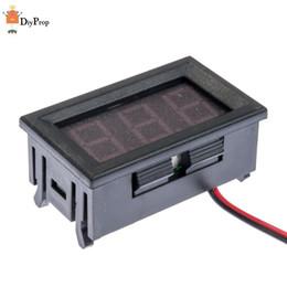 "Wholesale Voltmeter Wires - Wholesale-Wholesale 10pcs DC 4.5V-30.0V Red LED Panel Meter Digital Voltmeter 0.56"" LCD Two-wire"