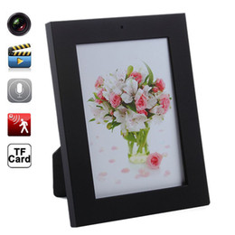 Wholesale Spy Photo Camera - Home Photo Frame Mini Hidden DVR Spy Camera Mini DV Camera Dvr Audio Video Cam & Motion Detect