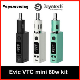 Wholesale Mini Companies - Genuine Joyetech Evic VTC Mini 60w Starter Kit 60w e cigarette vape mod from vapesourcing company DHL fast shipment