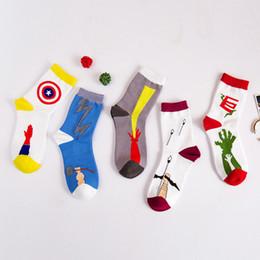 южнокорейские носки Скидка Южнокорейская осень и зима мужские носки хлопчатобумажные носки и творческий Мститель союз мужчины в трубки носки оптом и в розницу