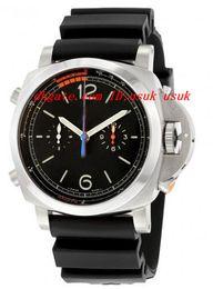 Wholesale Mechanical Chrono - Luxury Wristwatch Fashion Watch 1950 3 Day Chrono Flyback Regatta Black Dial Men's Watch 47MM Automatic Mens Watch Watches