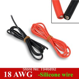 Wholesale Wire 18 Awg - Wholesale-18 AWG Flexible Silicone Wire RC Cable 150 0.08TS Outer Diameter 2.8mm Wire Conductor to DIY