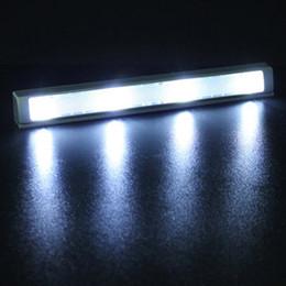 Wholesale Shaking Sensor Motion Detector - Wholesale- 4 LED Auto Shaking Sensor Motion Detector Energy Saving Light Lamp For Closet Drawer Kitchen Cabinet CLH
