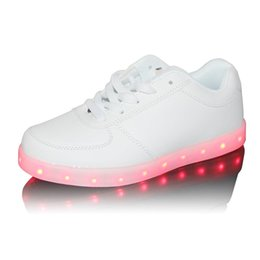 Wholesale Massage Flash - New Arrival Fashionable Shoes with LED Light USB Rechargeable 7 Colors Flashing Mode for Women 563 lot drop shipping