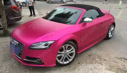 Wholesale Matt Film - Car Styling Wrap Matt Ice Rose Red Car Vinyl film Body Sticker With Air Free Bubble For Vehiche Motorcycle 1.52*20M  Roll KF-F1018