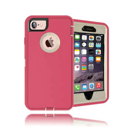 Wholesale Shockproof Case Clip - Top Quality Hybrid Shockproof Case With Stander for iPhone 7 Plus 6 6s Plus 5 5s SE For Galaxy S8 Plus S7 edge S6 Note 8 5 4 Cover Opp Bag