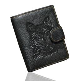 Cartões de crédito garantidos on-line-Nova garantia retro carteiras de couro genuíno do homem moda estilo águia cabeça do couro curto homem bolsa de cartão de crédito visa