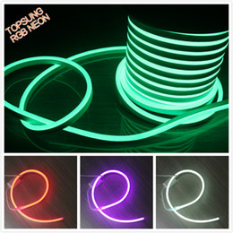 Wholesale Commercial Outdoor Sign - 50m(164') 14x26mm LED RGB Neon Lighting PVC Neon Tube Light DC 24V IP67 Outdoor Festival Lighting Decoration Neon Shop Sign