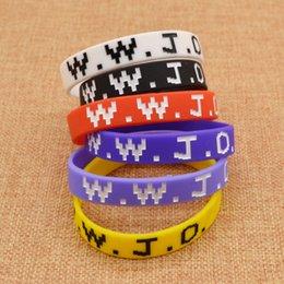 brazalete de latón africano Rebajas Al por mayor-¿Qué haría Jesús pulsera de pulsera de silicona WWJD Power joyería unisex