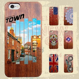 Wholesale Natural Real Bamboo Wood - Retro Case Real Handmade Natural Wood Wooden Bamboo Shockproof For iPhone 6 6s 7 Plus Samsung Galaxy S8 Plus S7 S6 edge Cover