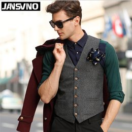 Wholesale Patch Suit Design - 2016 Best Man vests Men's Suit Vest Business England Men's coat Casual Vest Waistcoat Slim vest