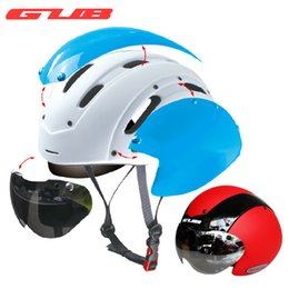 Wholesale Helmet Gub - Wholesale-GUB Bicycle bike Cycling Helmet Ultralight Integrally-molded MTB bike Road Bike Helmet goggles TT helmet With Magnetic UV Visor