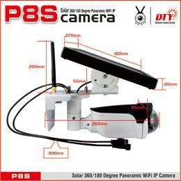 Wholesale Solar Powered Ip Camera Wireless - 2018year very hot sale,New innovative New! Panoramic fisheye XM battery powered wireless ip solar cctv camera, solar surveillance camera