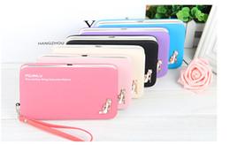 Wholesale Photos Pencil Dresses - Baellerry clutch bag purse long pencil-case student wallet Korean lunch box phone female