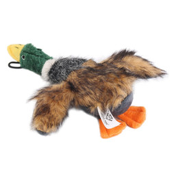 Wholesale Stuffed Plush Puppies - 2016 Classic Dog Toys Stuffed Squeaking Duck Dog Toy Plush Puppy Honking Duck for Dogs pet chew squeaker squeaky toy