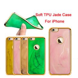 2019 cromado de metal Para iPhone 7 7plus Funda de TPU suave electrochapa para iPhone 6 Jade Scrub Plating Metal Chrome Para Iphone 6S 6 Plus cubierta de piel libre de DHL SCA149 cromado de metal baratos