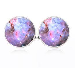 Wholesale Space Galaxy Cosmic - Space Nebula cuff links Space cufflinks Galaxy Universe Cosmic cufflinks