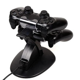 Wholesale Xbox Charging - Dual Charging Stand Charger Dock Station for Playstation DualShock 4 PS4 XBOX ONE Controller Gamepad USB Cable Blue LED Light Indicator