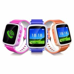 Wholesale Phones For Children - Best Top Hot Selling Q80 Baby Kids Children GPS Smart Bracelet Watch Phone Anti-lost Tracker Monitor Wristwatch for iOS Android Universal