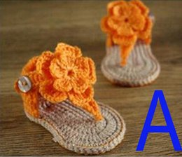 Wholesale Wholesale Exclusive Shoes - Factory directly Crochet Baby Shoes exclusive Handmade Toddlers shoes Infant Girls bowktie shoe for newborns