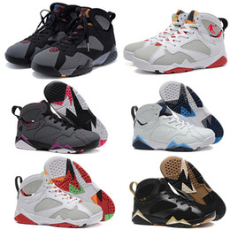 entraîneur de chaussures de basket-ball rétro Promotion 2016 New Cheap Retro Retro 7 trainers chaussures de basket-ball Hares Olympic Bordeaux Cardinal Raptor French Blue Citrus Sport chaussures sneaker