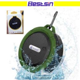 Сосать мобильный онлайн-Bestsin открытый портативный водонепроницаемый Беспроводной bluetooth динамик C6 сосание воды компьютер мобильный телефон спикер поддержка TF карт высокое качество