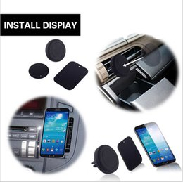 Gps de montage d'évent à vendre-Universal Cell Phone magnétique Air Vent Mount voiture Smart Phone Holder pour iPhone Samsung support GPS Stand avec Retail Box