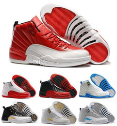 Wholesale Low Lifestyle - 2017 high quality 12 XII men basketball Shoes gym Red Flu Game ovo white taxi playoffs Sports Shoes sneakers Athletics boots