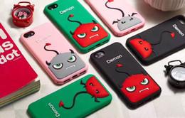 Wholesale Cute Phone Wallets - Large Little Demon Case For iPhone 6 6s 7 Plus 3D Cute Cartoon Soft Silicone Rubber Phone Case for IPhone 7Plus Back Cover