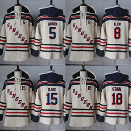 Wholesale Ice Wine Glasses - Hot Sale Mens Womens Kids New York Rangers 5 Daniel Girardi 8 Kevin Klein 15 Tanner Glass 18 Marc Staal Beige Cheap Ice Hockey Hoodies