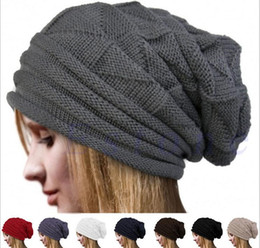 Wholesale Folding Hats - Hats Hot Fold Flanging Snowboard Skiing Skating Warm Knitted Cap Beanies Snap Slouch Skullies Bonnet Beanie Skull Caps Gorro For Men Women