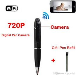 Wholesale Hd Mini Spy Camera Wireless - 720p HD Wireless Wifi Ip Hidden Spy Pen Video Camera for Android And Ios, H.264 Mini with Built-in DVR Hidden Pen