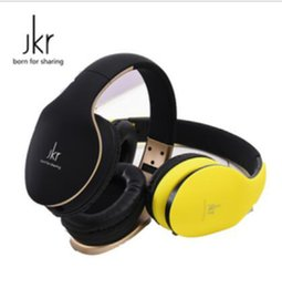 Wholesale Dj Headphones Headsets Over Ear - JKR-102 Wired Earphones DJ Headphone Headset Over Ear Noise Cancelling Folding Headphone with Mic For Cell Phone Computer MP3 MP4