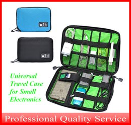 Wholesale Travel Accessories Bags Women - Universal Travel Case for Small Electronics and Accessories Storge Hand Bag for Power Bank and Cell-phone Black Blue Bag001