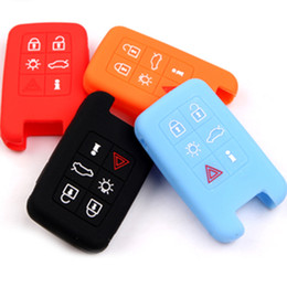 Wholesale Internal Covers - Volvo Silicon Car Key Covers For Volvo V40 S80 XC60 S60L V60 Accessories 5 Colors Mixed Silicon Key Case Bags Decorations