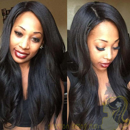 Wholesale Italian Yaki Full Lace Wigs - Italian Yaki Glueless Full Lace Human Hair Wigs For Black Women Brazilian Human Hair Italian Yaki Lace Front Human Hair Wigs