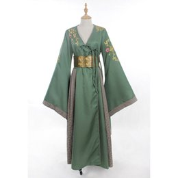 Wholesale Making Music Games - 2016 Brand New Green Long Sleeve Game of Thrones Costume Custom Made Cersei Lannister Cosplay Costume For Halloween