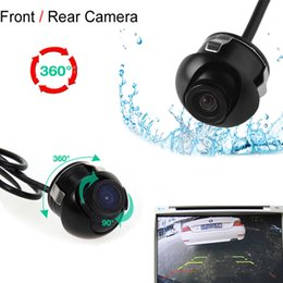 Wholesale car front camera monitor - Mini CCD Night Vision 360 Degree Car Rear Front Side View Backup Camera With Mirror Image Conversion Lines CAL_00D
